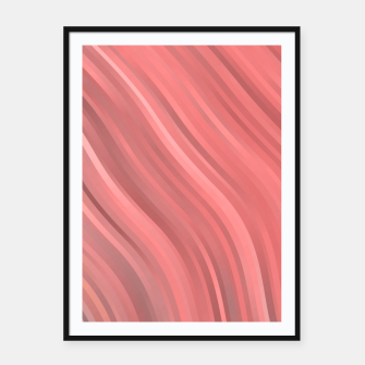 stripes wave pattern 1 drp Framed poster miniature
