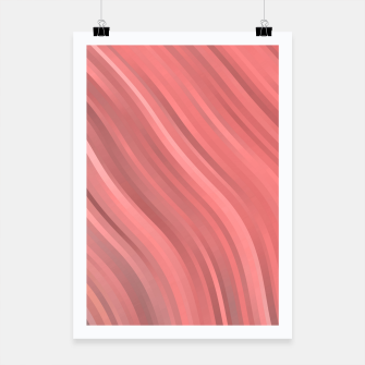 stripes wave pattern 1 drp Poster miniature