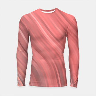 stripes wave pattern 1 drp Longsleeve rashguard  miniature