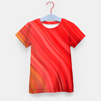 stripes wave pattern 1 drv Kid's t-shirt miniature