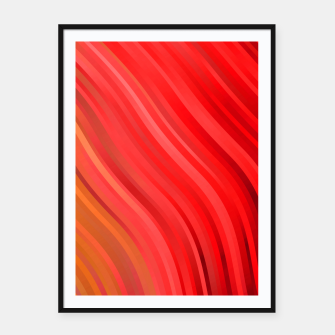 stripes wave pattern 1 drv Framed poster miniature
