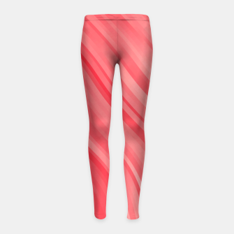 stripes wave pattern 1 drvi Girl's leggings miniature