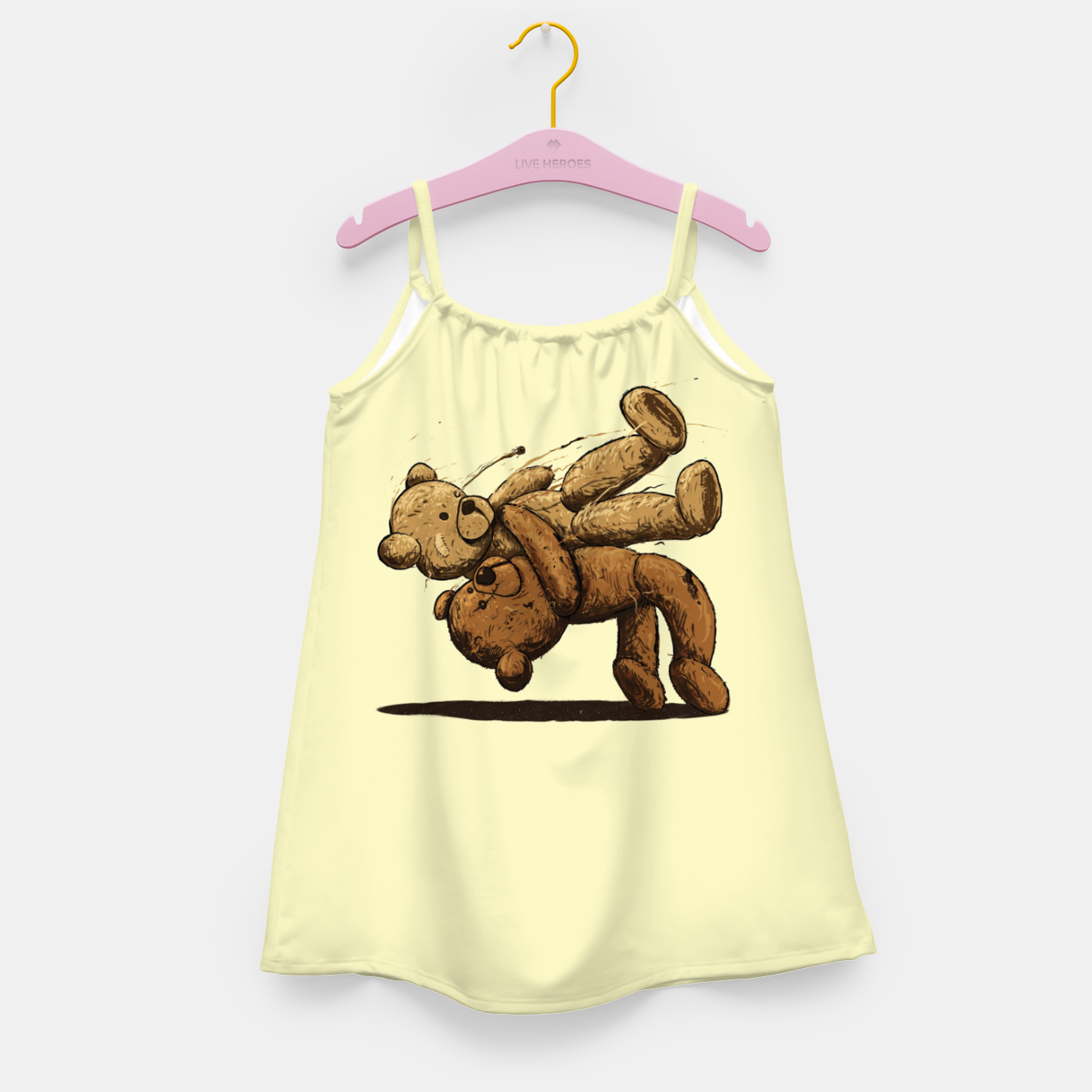Image of Bear Hug Girl's dress - Live Heroes