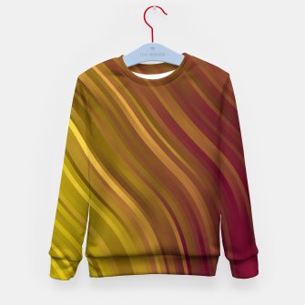 Miniature de image de stripes wave pattern 1 eev Kid's sweater, Live Heroes