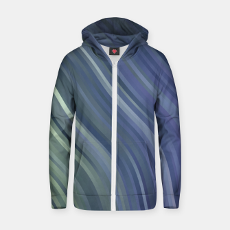 stripes wave pattern 1 fnp Zip up hoodie miniature