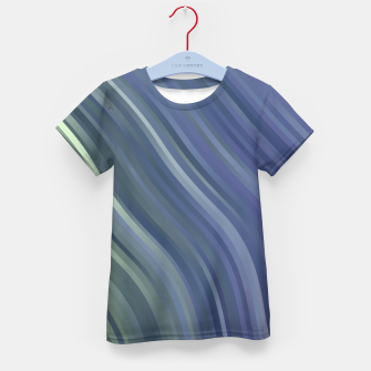 stripes wave pattern 1 fnp Kid's t-shirt miniature