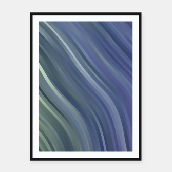 stripes wave pattern 1 fnp Framed poster miniature