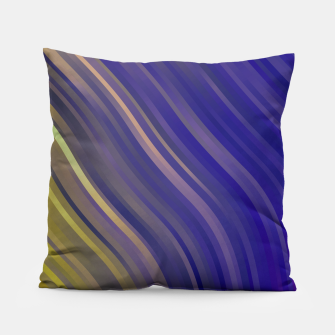 stripes wave pattern 1 lsv Pillow miniature