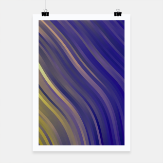 stripes wave pattern 1 lsv Poster miniature
