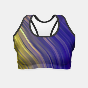 Miniaturka stripes wave pattern 1 lsv Crop Top, Live Heroes