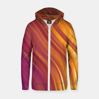 stripes wave pattern 1 lsvi Zip up hoodie miniature