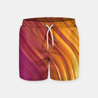 stripes wave pattern 1 lsvi Swim Shorts miniature