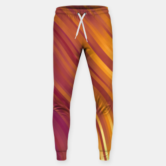stripes wave pattern 1 lsvi Sweatpants miniature