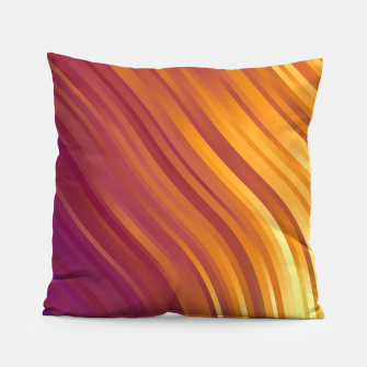stripes wave pattern 1 lsvi Pillow miniature