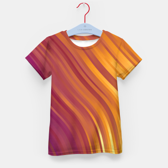 stripes wave pattern 1 lsvi Kid's t-shirt miniature