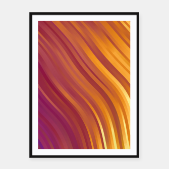 stripes wave pattern 1 lsvi Framed poster miniature