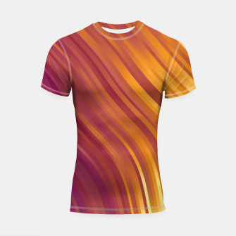 stripes wave pattern 1 lsvi Shortsleeve rashguard miniature
