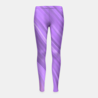 Thumbnail image of stripes wave pattern 1 mp Girl's leggings, Live Heroes