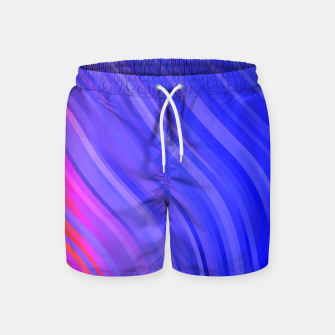 Thumbnail image of stripes wave pattern 1 mv Swim Shorts, Live Heroes