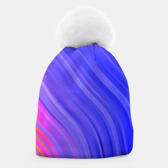 stripes wave pattern 1 mv Beanie miniature
