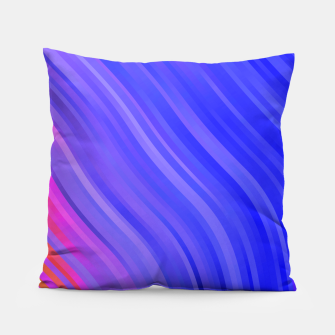 stripes wave pattern 1 mv Pillow miniature