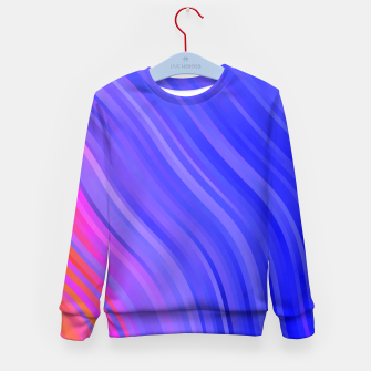 Miniature de image de stripes wave pattern 1 mv Kid's sweater, Live Heroes