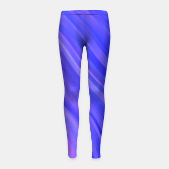 stripes wave pattern 1 mv Girl's leggings miniature