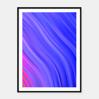 stripes wave pattern 1 mv Framed poster miniature