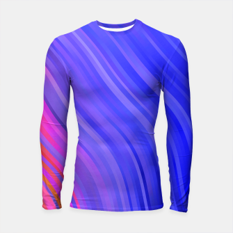 stripes wave pattern 1 mv Longsleeve rashguard  miniature