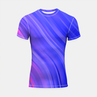 stripes wave pattern 1 mv Shortsleeve rashguard miniature