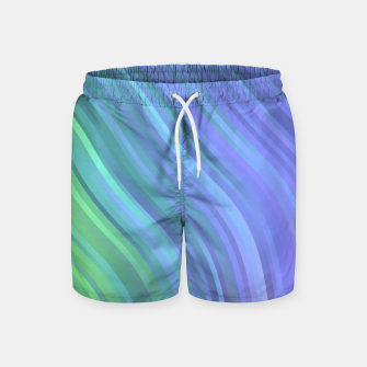 Thumbnail image of stripes wave pattern 1 stdp Swim Shorts, Live Heroes