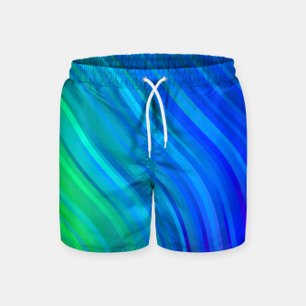 Thumbnail image of stripes wave pattern 1 stdv Swim Shorts, Live Heroes