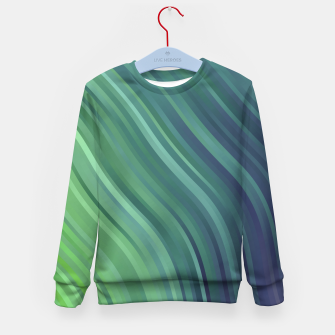 Miniature de image de stripes wave pattern 1 tgv Kid's sweater, Live Heroes