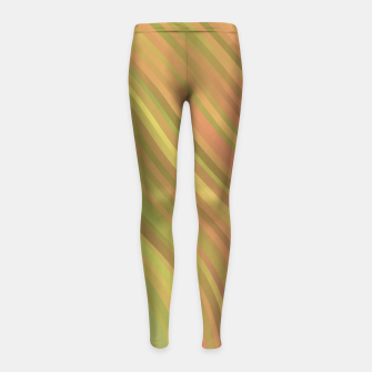 Thumbnail image of stripes wave pattern 1 w81p Girl's leggings, Live Heroes
