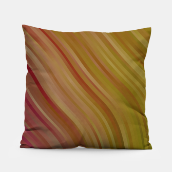 stripes wave pattern 1 w81pi Pillow miniature