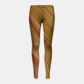 stripes wave pattern 1 w81pi Girl's leggings miniature
