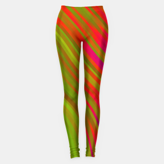 stripes wave pattern 1 w81v Leggings miniature