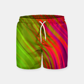 Thumbnail image of stripes wave pattern 1 w81v Swim Shorts, Live Heroes