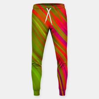 stripes wave pattern 1 w81v Sweatpants miniature