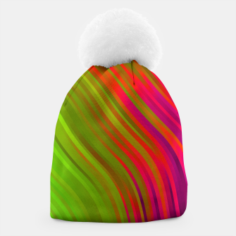 stripes wave pattern 1 w81v Beanie miniature