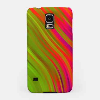stripes wave pattern 1 w81v Samsung Case miniature