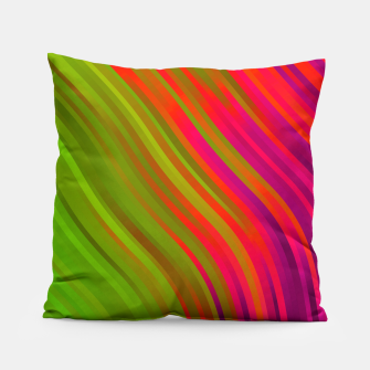 stripes wave pattern 1 w81v Pillow miniature