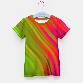 stripes wave pattern 1 w81v Kid's t-shirt miniature