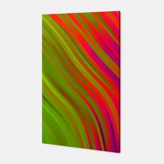 stripes wave pattern 1 w81v Canvas miniature