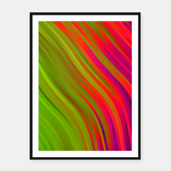 stripes wave pattern 1 w81v Framed poster miniature