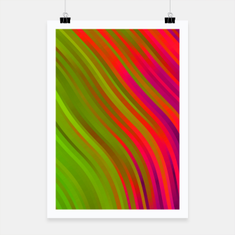stripes wave pattern 1 w81v Poster miniature