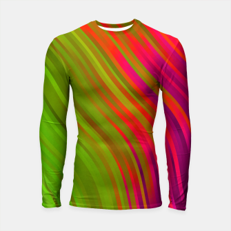 stripes wave pattern 1 w81v Longsleeve rashguard  miniature