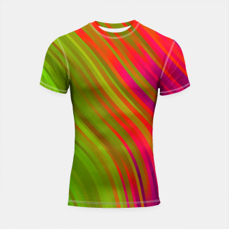 stripes wave pattern 1 w81v Shortsleeve rashguard miniature