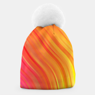 stripes wave pattern 1 w81vi Beanie miniature