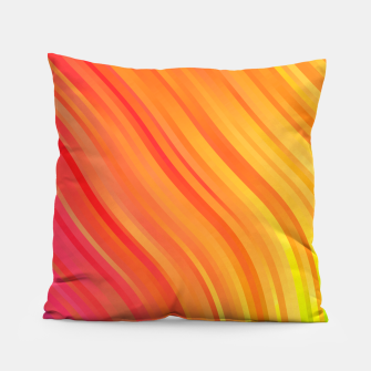 stripes wave pattern 1 w81vi Pillow miniature